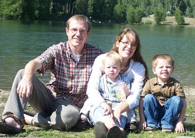 Family at Lake